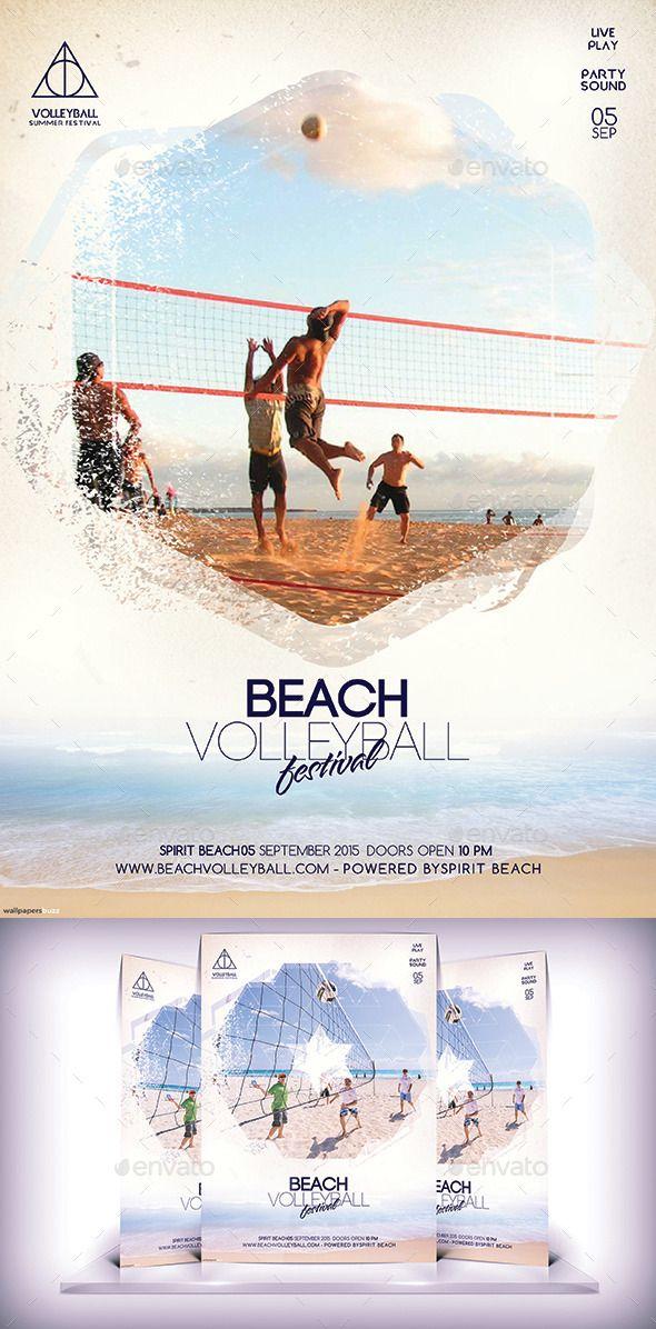 Beach Volleyball Festival Flyer Template #design #flyerdesign Download: http://graphicriver.net/item/beach-volleyball-festival-flyer/12163753?ref=ksioks