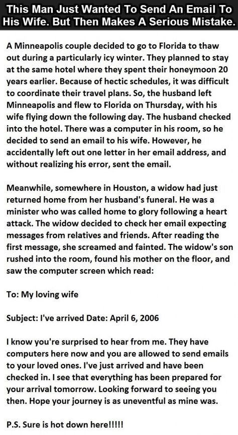 This Man Just Wanted To Send An Email To His Wife But Then Makes A Serious Mistake funny quotes quote jokes story lol funny quote funny quotes funny sayings joke humor stories