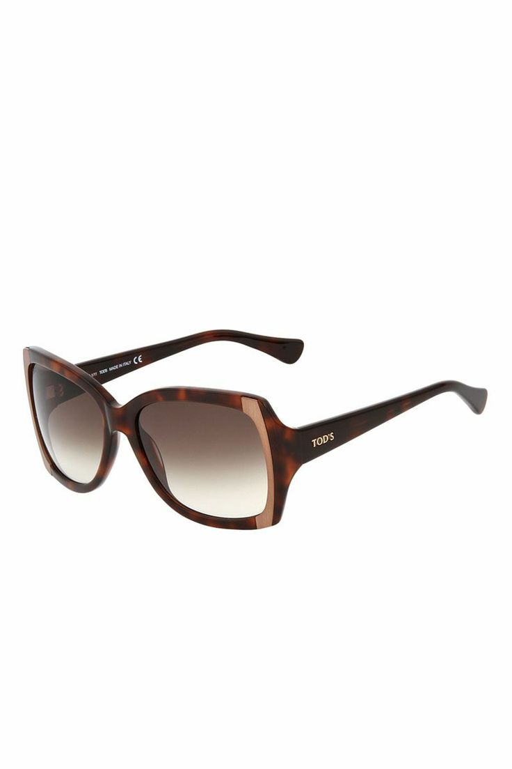 Square Sunglasses with Metal Sides (Multicolour/Brown Gradient) | Brandsfever