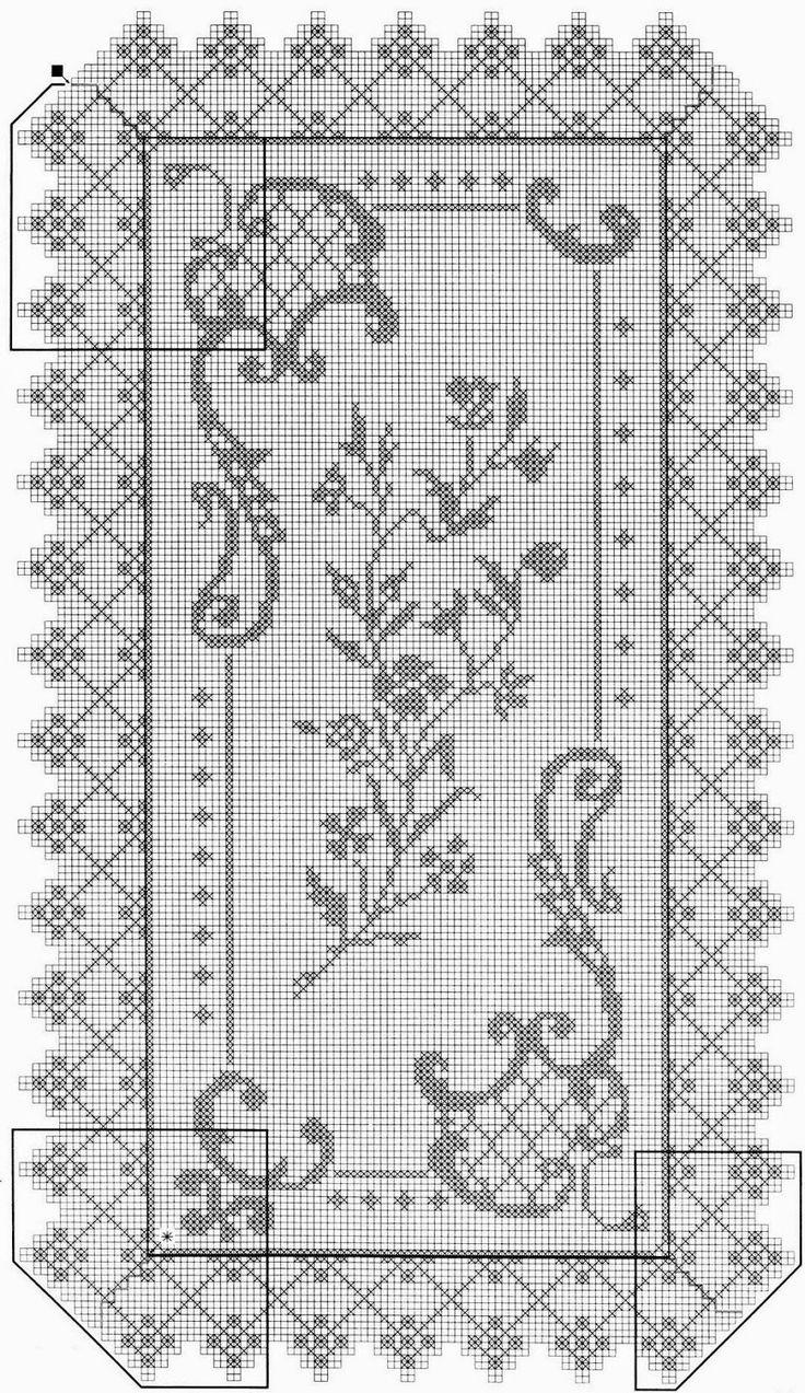 serwetka / filet / szydełko // crochet em revista