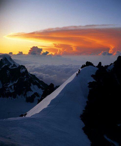Mont Blanc (4810m) en Chamonix Mont-Blanc, Rhône-Alpes