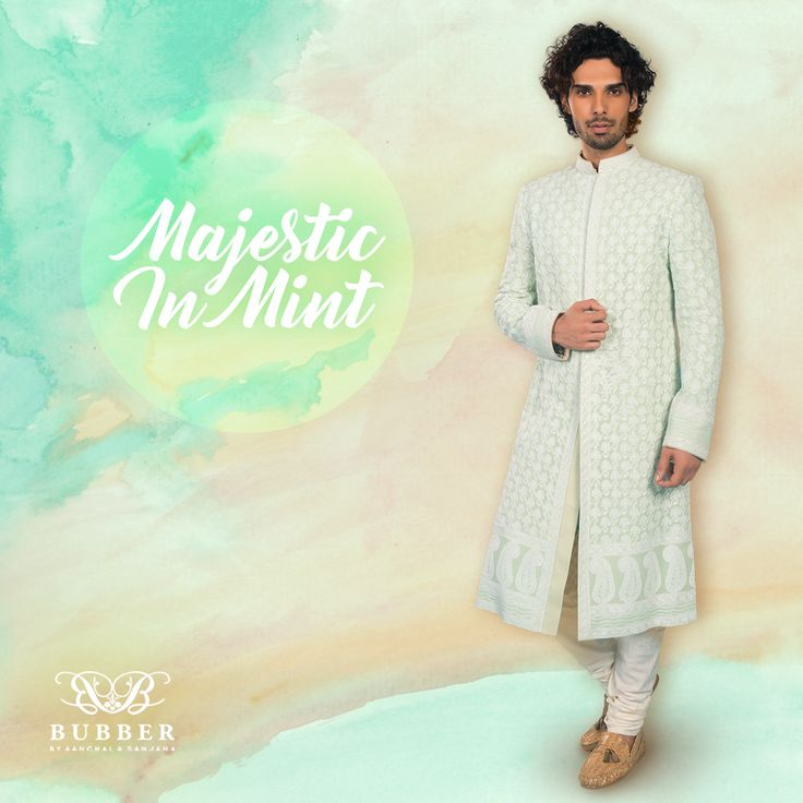 Get Majestic In Bubber Couture's Mint 'Linden' Groom's Shewani! Order This Mint Chikankari Ensemble Today! 📞 9819980846/9820709875  🏠 The Bubber Couture Store. 📍 https://goo.gl/maps/YvPDNrLEuBv 📧 info@bubbercouture.com . . . #newcollection #mint #pastel #indianwear #sherwani #chikankari #lucknowi#sakura #cherryblossom #indowestern #contemporary #dapperman #dandy#dapper #sophisticated #classic #menstyle #stylish #indianwedding #groom#odetothecherryblossom #handcrafted #couture #luxury…