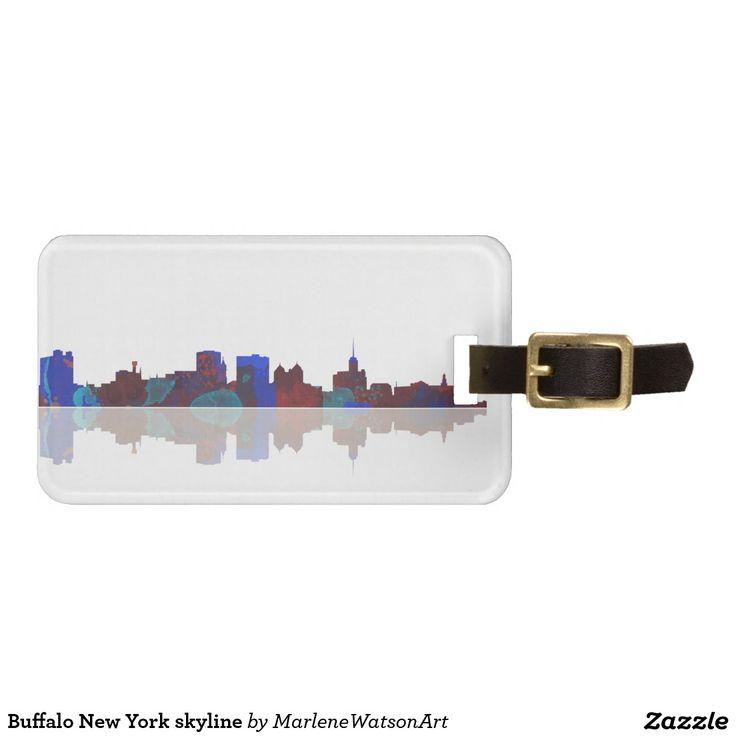 Buffalo New York skyline Travel Bag Tags