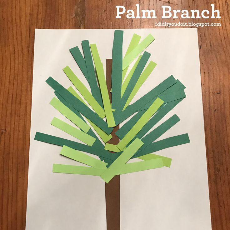 Image Result For Preschool Palm Branch Craft Wayfarer Kids Palm