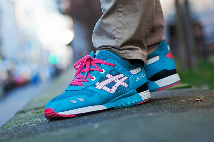 asics gel lyte 3 teal dragon