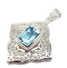 enticing Blue Topaz 925 Sterling Silver Blue Pendant jaipur US gift