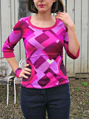 Paulie Pocket Top Free Pattern for Women