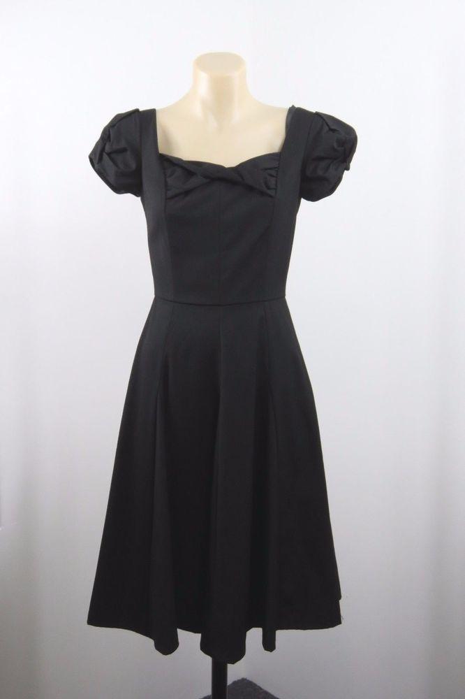 Size XS 6 Revival Dangerfield Ladies Black Dress Retro Pinup Rockabilly Design #Revival #Skater #Casual