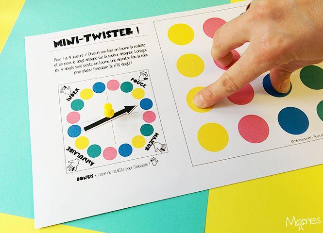 Jeux à imprimer : le mini twister pour les doigts !