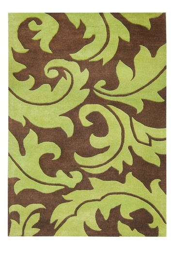 Green & brown pattern. LOVE this. Hand-tufted Sabrina Green and Brown Wool Rug (5' x 8') $150