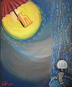 Drawing - little i Tribute to e e cummings by Regina Jeffers