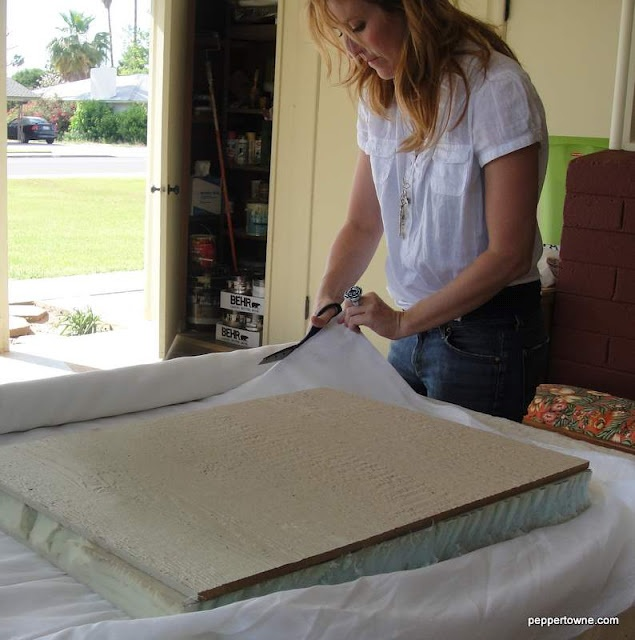 How-to for a bench seat. I'm in the middle of building an ikea cabinet hack/built-in looking bench seat and desk on our dining room wall. We'll see how it goes! This is helping me with the upholstery part!