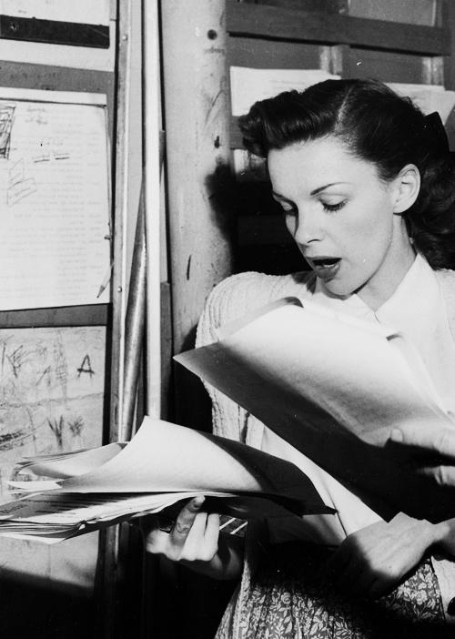 preparing for a radio show, 1940s