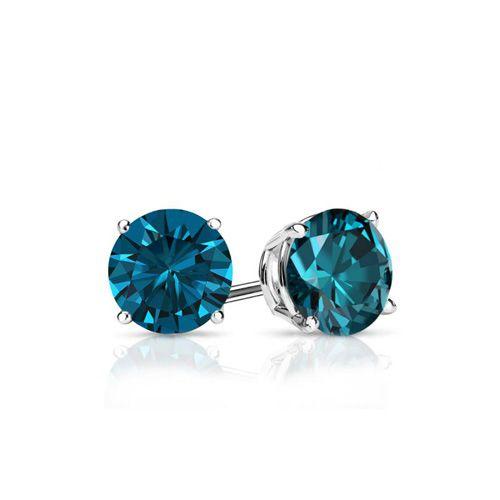 Diamantohrstecker 0.50 Karat blaue Diamanten 585/14K Weißgold für nur 999 Euro #diamantohrstecker #weissgold #gelbgold #rosegold #blaue_diamanten #schmuck #ohrschmuck #ohrstecker #juwelier #abt #dortmund #karat