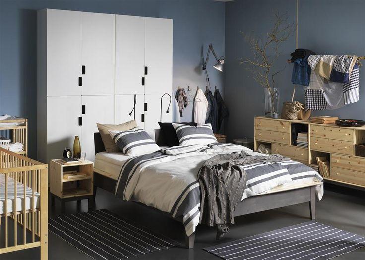 pax sandset wardrobe and norn s bed frame ikea catalogue 2015 pinterest wardrobes beds. Black Bedroom Furniture Sets. Home Design Ideas
