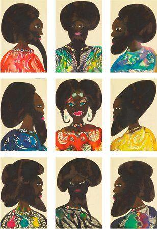 Afro Muses, 1995–2000 | Chris Ofili