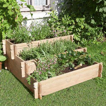 carr potager geolia ortens 100 x 100 x 49 cm jardin pinterest ps. Black Bedroom Furniture Sets. Home Design Ideas
