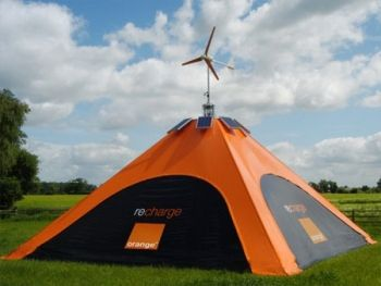 solar wind powered tent