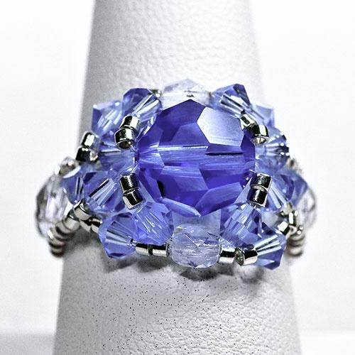Swarovski ring w/ large central crystal
