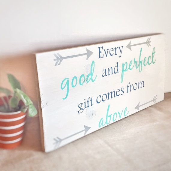 Christian home decor - Bible verse wall art - nursery decor - baby shower gift - arrow nursery - scripture wall art - wooden sign