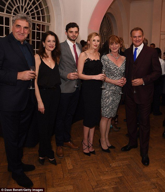 Famous faces: (From left) Jim Carter, Raquel Cassidy, Laura Carmichael, Samantha Bond and ...