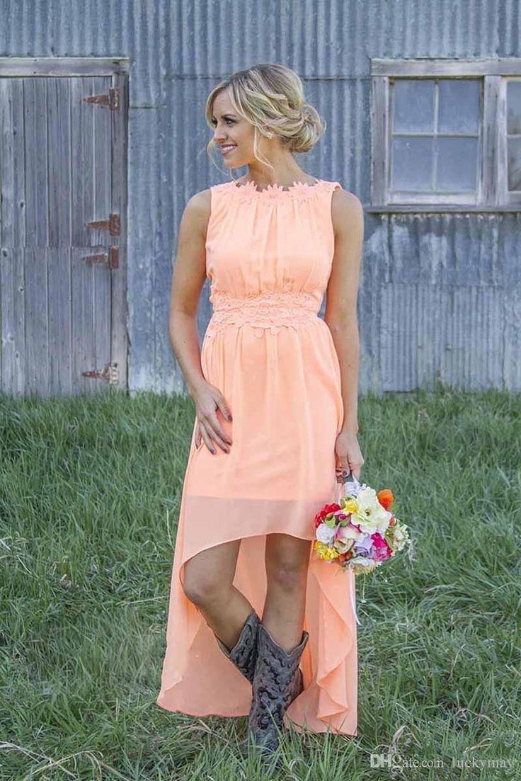 Best 25 wedding dresses glasgow ideas on pinterest wedding bridesmaid dresses glasgow 2015 new beach wedding event bridesmaid dresses high low chiffon applqiued jewel neck ombrellifo Images