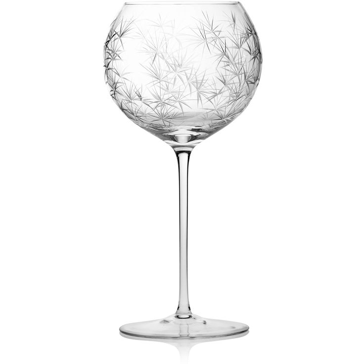 BALOON WINE GOBLET |  Handmade Glass Blown Baloon Wine Goblet, Bambou-Clear 3300, height: 229 mm | diameter: 114 mm | volume: 560 ml | Bohemian Crystal | Crystal Glass | Luxurious Glass | Hand Engraved | Original Gift for Everyone | clarescoglass.com
