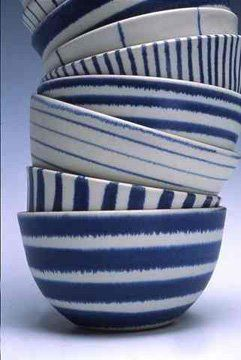 Blue and white ceramics.  Have I mentioned I Love blue bowls???