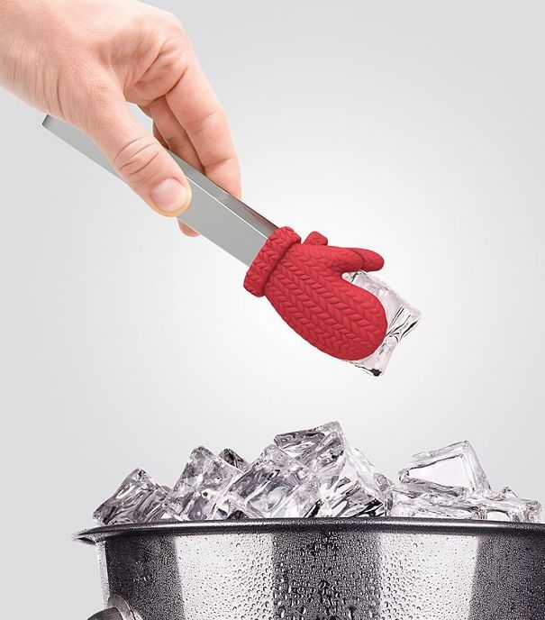25ofthe coolest kitchen gadgets you've ever seen -- hot man plate, ice cube mitten tongs, Nessie ladle, dinosaur spaghetti tongs