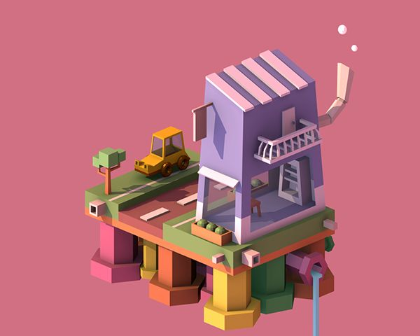 Mysteries Town by Sattrawut Sinlapaanun, via Behance