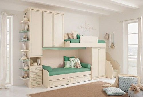 Bunk bed with stairs!!! Love!!!