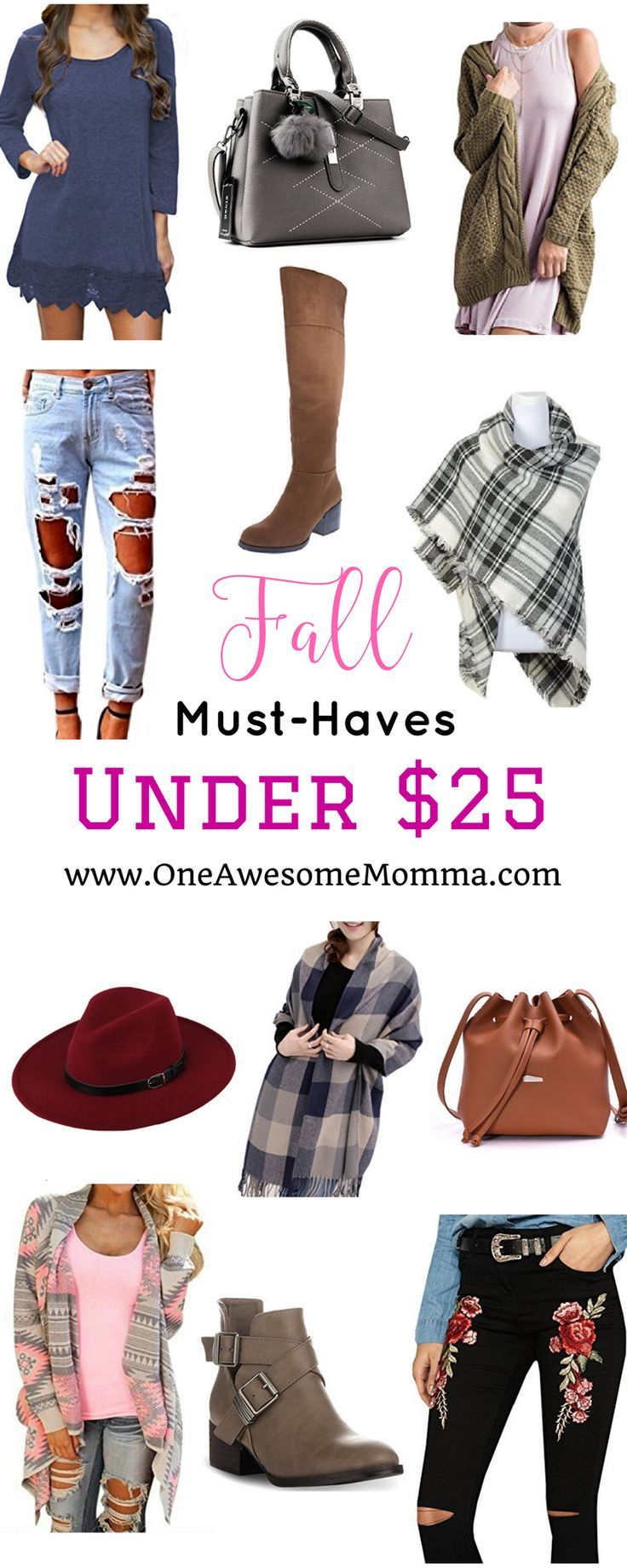 Looking fabulous for fall doesn't have to be expensive. You can absolutely look stylish even when on a budget. Here are fall must haves that are under $25. | fashion on a budget