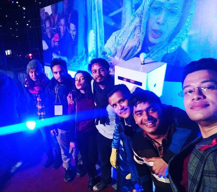 At the red carpet movie premier of Bijuli Machine today!  A must watch movie indeed! Releasing tomorrow!  #BijuliMachine #NepaliMovie #Trident #MustWatch