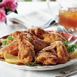 To this day, fried chicken is my go-to lunch after church on Sundays. Keeping the shortening hot enough is the key to crisp chicken. Use a thermometer the first few times. After that, judging the heat becomes second nature.