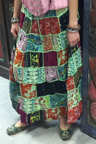 Fascinating boho maxi skirt is made up of rayon fabric and the color gives it a classy look relaxible fitting.