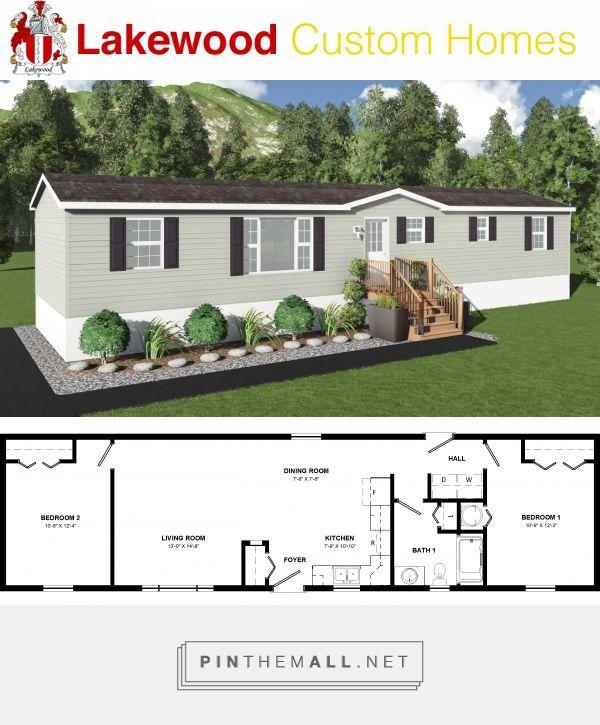 Rockwood 945 Sq Mini Home 16 X 60 2 Bedrooms 1 Bathroom Mini House Home Design Floor Plans Interior Design Living Room