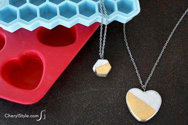 Easy DIY concrete necklace