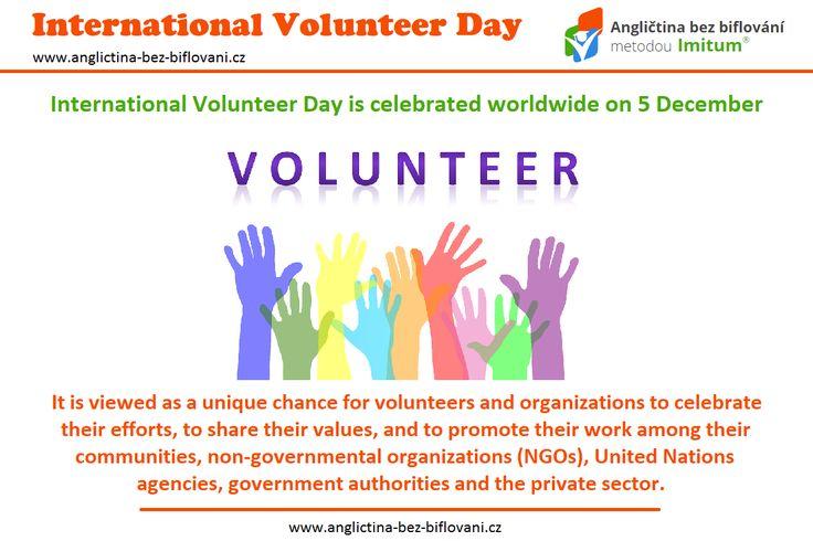 Dnes je Mezinárodní den dobrovolníků. 🎉 OSN tento den vyhlásila koncem roku 1985, slavit se tak mohl až od roku 1986, kdy jsme si poprvé připomněli, jak jsou dobrovolníci důležití ku prospěchu společnosti. 👤✌ #svatky #vyznamnedny #dobrovolnici