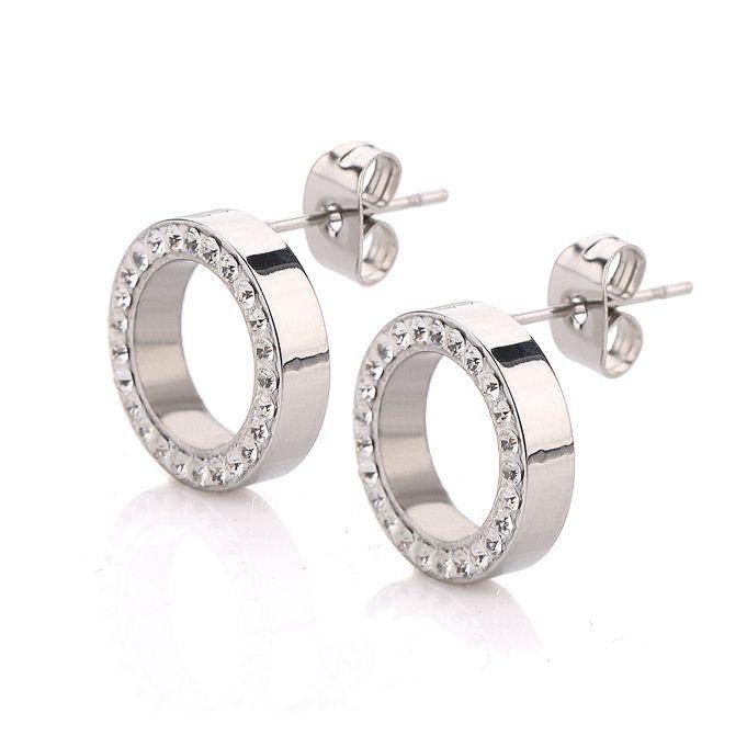 316L Stainless Steel Earring Crystal Stud Earrings For Women Joyas Brincos Bijoux Jewelry Earings Fashion