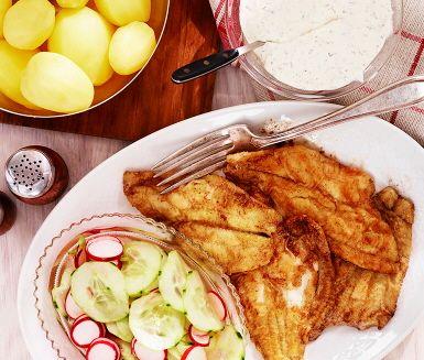 Recept: Rödspätta med rädisor och gurka