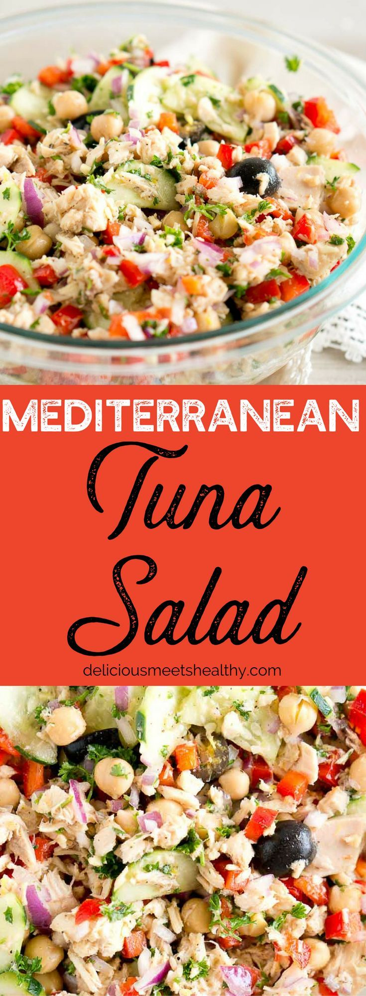 Mediterranean Tuna Salad - so much flavor and so easy to put together!