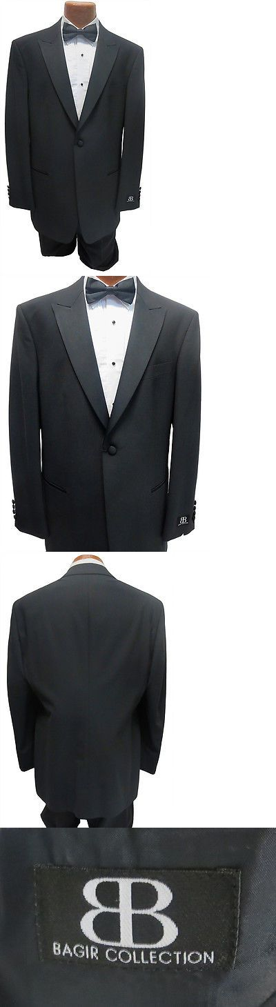 Tuxedos and Formal Suits 105515: New Mens Bagir 40R Black 1 Button Peak Tuxedo Jacket And Pants Formal Wedding -> BUY IT NOW ONLY: $64.99 on eBay!