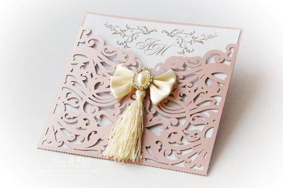 Scroll Wedding Envelope pattern Template swirl от EasyCutPrintPD