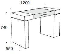 Туалетный столик Armobil 7000 для спальни фабрики Armobil из Италии купить в Москве - Современный стиль : описание, фото. Артикул 47844 - Знак ответа