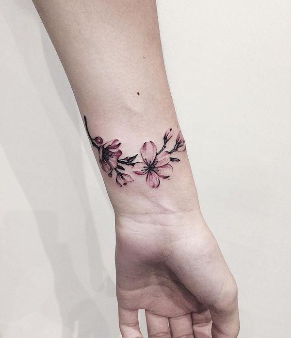 Cherry Blossom Tattoo Japanese Blossom Tree Tattoo Design September 2020 Flower Wrist Tattoos Blossom Tattoo Cherry Blossom Tattoo