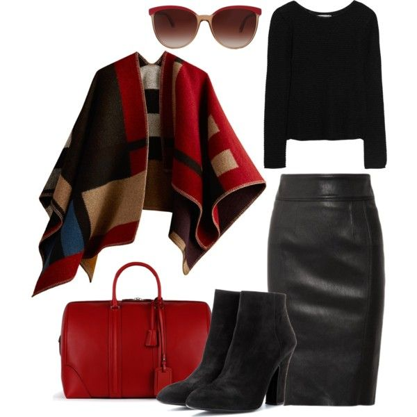 """poncho"" by lelouka on Polyvore"
