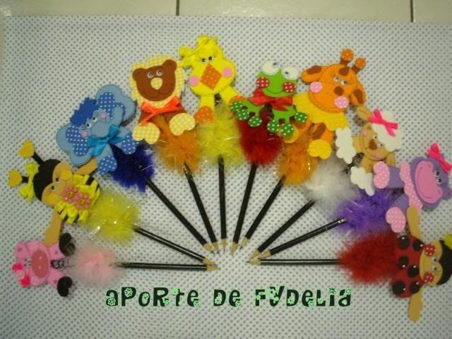 Lapiceros decorados con foamy - Imagui