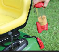 """""""fire that ant"""" dispenser for push and riding mowers.  Fire ant removal."""