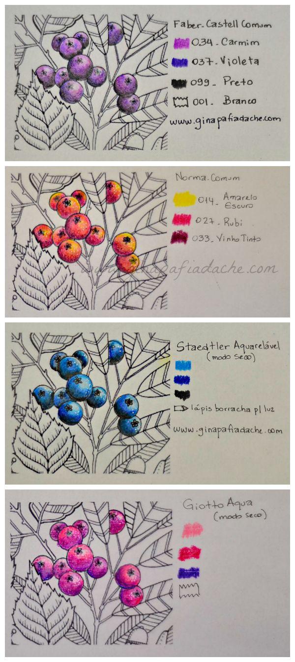 Atelier Gina Pafiadache: Sugestão de cores para os livros de colorir! #6