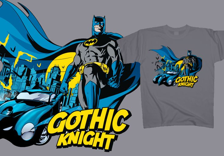 #Batman is here and everybody can feel safer now, even if he's not a Gotham City resident. Click at http://www.toonshirts.com/products/superheroes/33-batman-gothic-knight and make a stylish statement that noone will ignore.